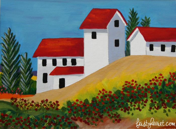 Oil painting_Spanish monastery_feistyharriet_2016
